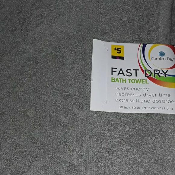 Comfort Bay Fast Dry Bath Towel Purple 30 in x 50 in